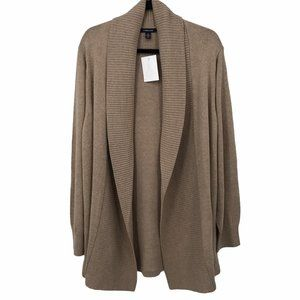 NWT Land's End Beige Open Cardigan Sweater 3X